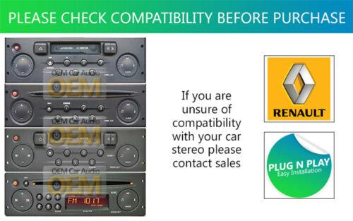 Renault Megane Aux En Plomo Auto Estéreo Ipod Iphone Reproductor Adaptador Connection Kit