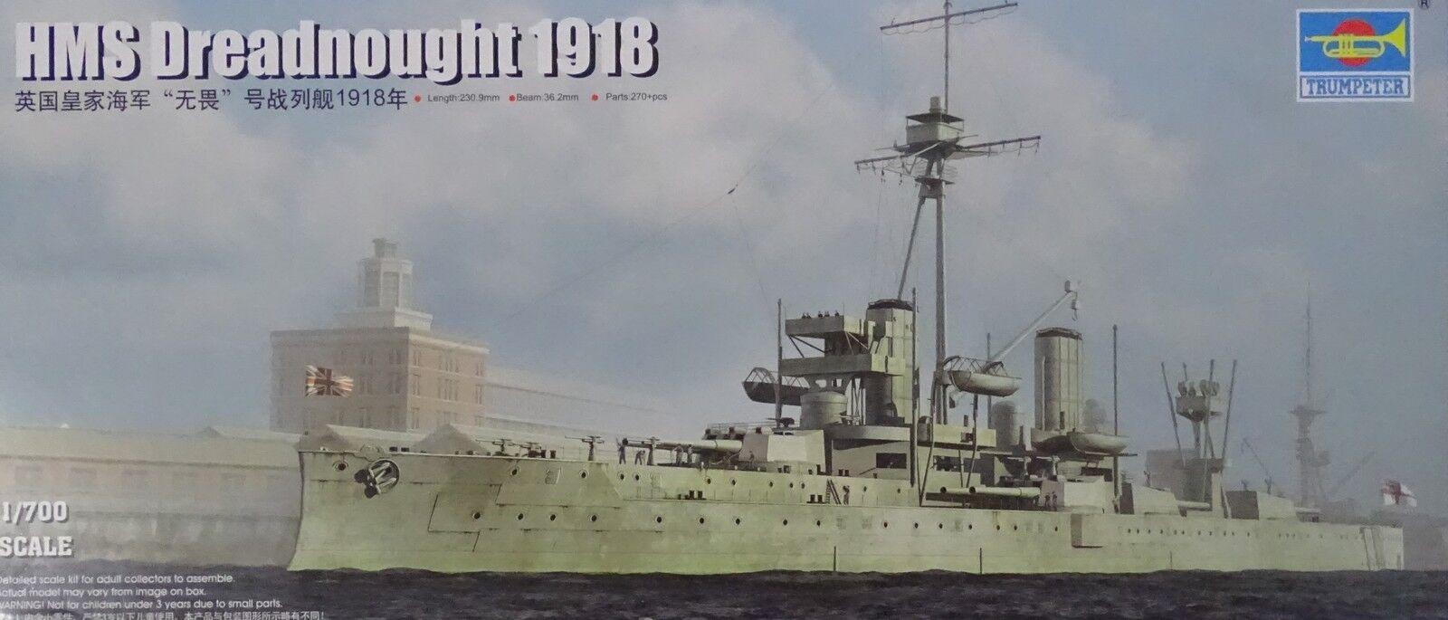 TRUMPETER® 06706 HMS Dreadnought Dreadnought Dreadnought 1918 in 1 700    Nutzen Sie Materialien voll aus  2ba047