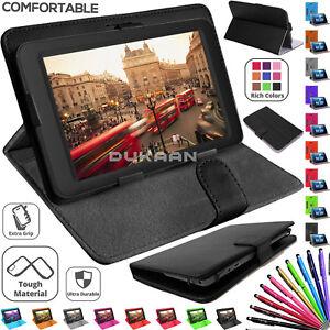 Universal-De-Cuero-Con-Soporte-amp-Girar-Funda-Cubierta-para-Tablet-Lenovo-TB-X103F-10-1-in-approx