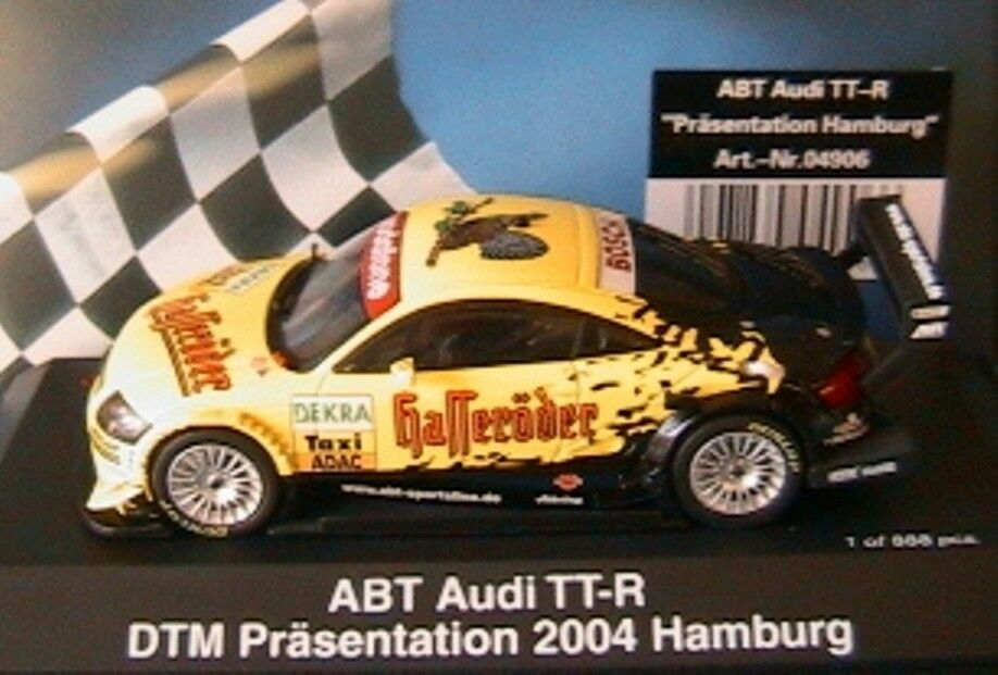 AUDI TT-R ABT DTM PRASENTATION 2004 HAMBURG SCHUCO 4906 1 43 PRESENTATION ADAC