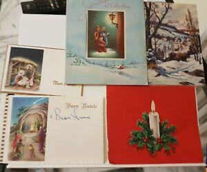 Immagini Natale Anni 50.Biglietti Di Auguri Di Buon Natale Antiche Vecchi Anni 50 60 Ebay