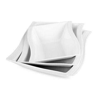 Set Pommesschale Porzellan Würstchenteller 8 tlg MALACASA Serie Regular