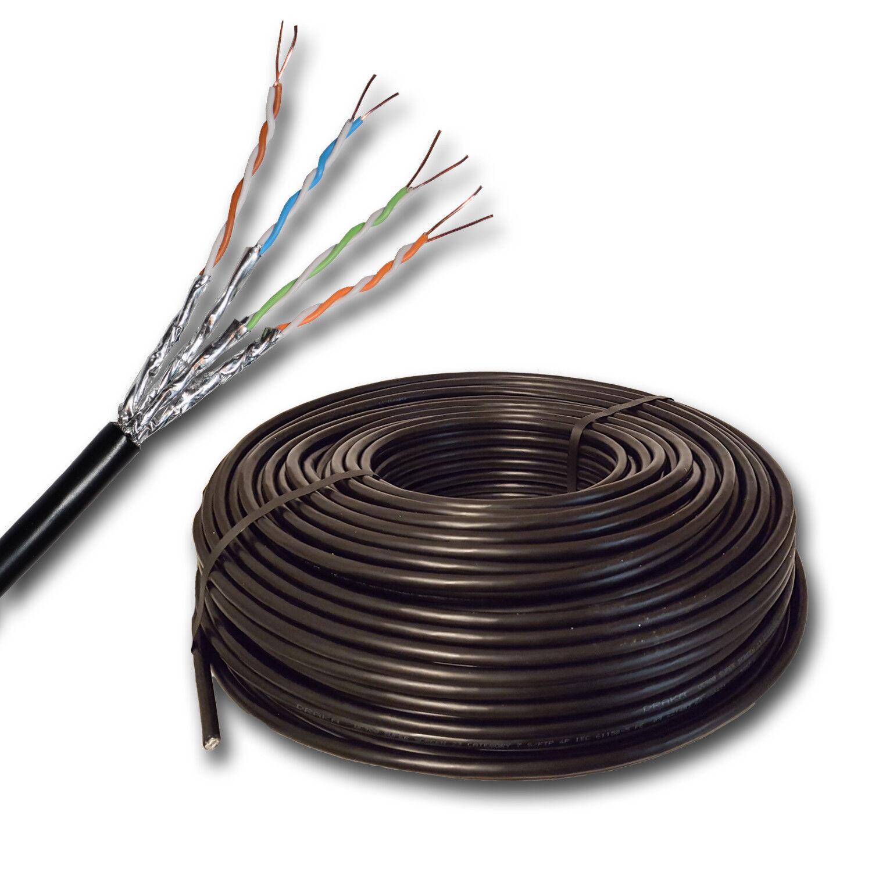 (  m) Draka Datenkabel Erdkabel Cat7 UC900 SS23 4P schwarz Kat7  5 bis 300 m  | Stabile Qualität