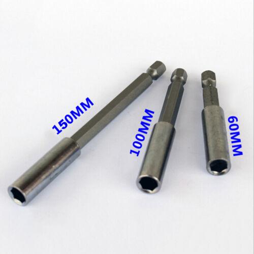 60//100//150mm Magnetische Schraubendreher Verlängerung Bit Schnellverschlu FBB