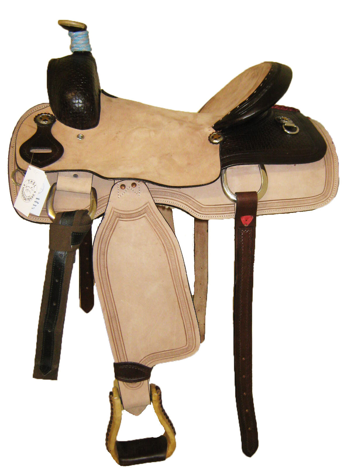 DARK TOOLED SADDLE WESTERN BRN NATURAL (1095) 16 15 5 SEAT