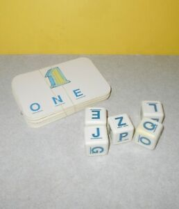 Board game parts BOGGLE letter cubes Parker Brothers alphabet die word dice