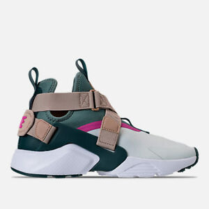 finest selection 89864 2f441 Image is loading WMNS-NIKE-AIR-HUARACHE-CITY-BARLEY-GREY-CASUAL-