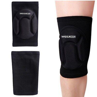 1x Sports Leg Knee Patella Support Brace Wrap Protector Black Pad Sleeve Guard