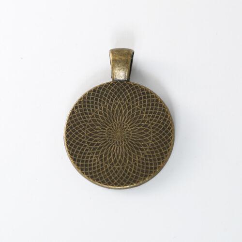 Pendentif base Setting Bezel plateaux Fit 25 mm cabochons 10pcs//lot À faire soi-même Jewelry Making
