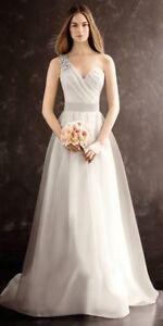 1f1e582887 Image is loading Vera-Wang-One-Shoulder-Wedding-Dress-Ivory-BNWT-