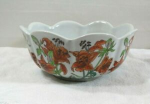 "VINTAGE MID CENTURY ""NEW ENGLAND POTTERY"" 8"" PLANTER HANDPAINTED MADE IN USA"