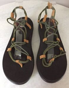 2cf2bf0aee7 Image is loading Teva-1019622-Voya-Infinity-Avocado-Khaki-Sandals-Women-