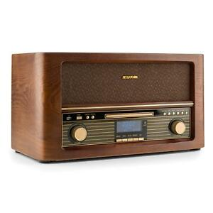 retro radio stereo speaker system dab fm rds wireless music cd mp3 player usb 4260486150149 ebay. Black Bedroom Furniture Sets. Home Design Ideas