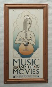 David-Lance-Goines-b1945-large-original-plate-signed-print-Music-amp-The-Movies