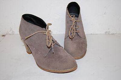 Femme TENDANCE Bottillons Lacés à talon CLOSER Bottines Beige Daim Chaussures 38 | eBay
