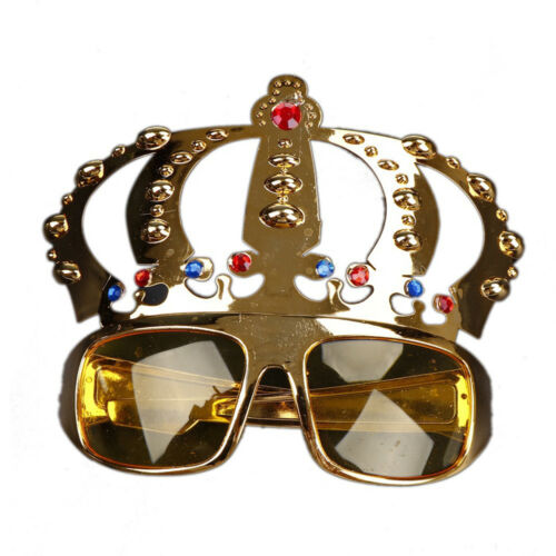 Beautiful Crown Shape Glasses Party Costume Glasses Electroplating Sunglasses