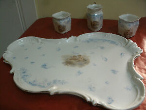 Bellissimo-Set-Ceramica-VASSOIO-Due-TAZZE-LATTIERA-Dec-Bambini-Children