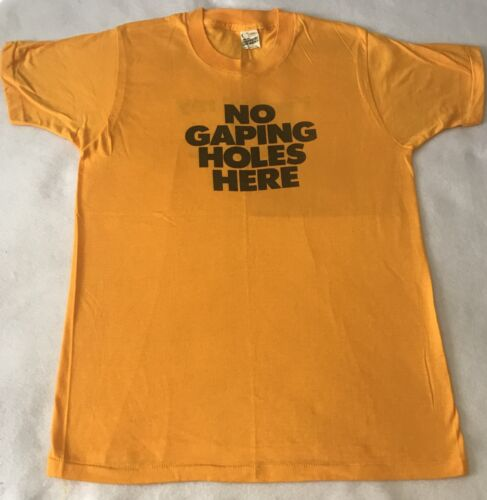 Vintage NO GAPING HOLES HERE Video Game Promo T -