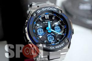 e86413424f0 Casio G-Shock Stainless Steel Tough Solar Men s Watch GST-S100D-1A2 ...