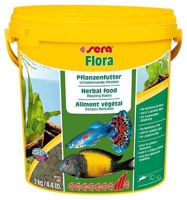 (eur 4,19 / L) Sera Flora Zierfisch Futter 10 Liter