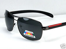 New Black Mens Polarized Lens Sunglasses Sport Fishing Driving Shades Pilot Wrap