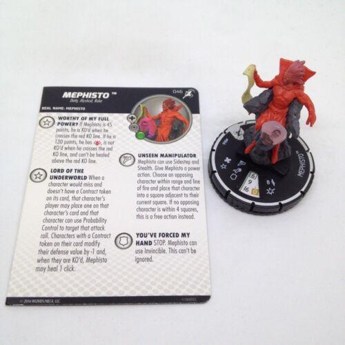 Heroclix Superior Foes of Spider-Man set Mephisto #046 Rare figure w//card!