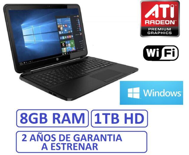 "Ordenador portatil HP 15"" 8Gb RAM HD 1Tb ATI R2 1696MB WINDOWS 10 + OFFICE"