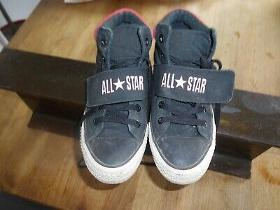 CONVERSE ALL STAR NOIRES rouges blanches T 37,5 TBE A 19,99