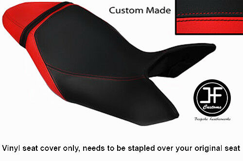 BLACK /& RED VINYL CUSTOM FITS TRIUMPH SPEED TRIPLE 1050 11-13 SEAT COVER ONLY