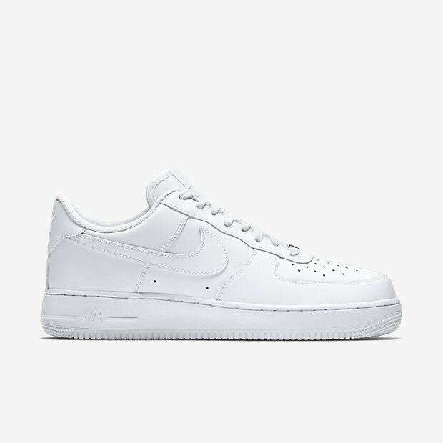 315122-111 uomini nike air force 1 '07 scarpa!! bianca / bianco!! 100% originale!!