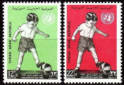 Dynamisch Syrien Syria 1963 ** Mi.848/49 Kindertag Children's Day Uno Aromatischer Charakter Und Angenehmer Geschmack Mittlerer Osten