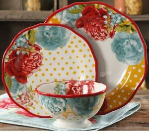 Image is loading The-Pioneer-Woman-Blossom-Jubilee-24-piece-Dinnerware- & The Pioneer Woman Blossom Jubilee 24-piece Dinnerware Set Service ...