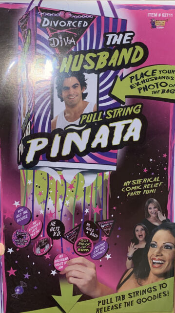 Divorced Diva PARTY PACK EX Husband Doormat Dartboard Pinata Gag Gift Party Fun