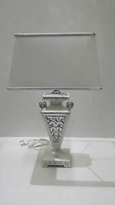Lampada via veneto lume bianco e argento ceramica arredo for Veneto arredo