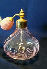 Pretty Caithness Glass pink perfume bottle atomiser