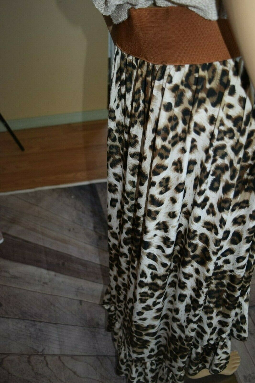 Mint Green Brand Women's XL Leopard Jaguar Animal… - image 6