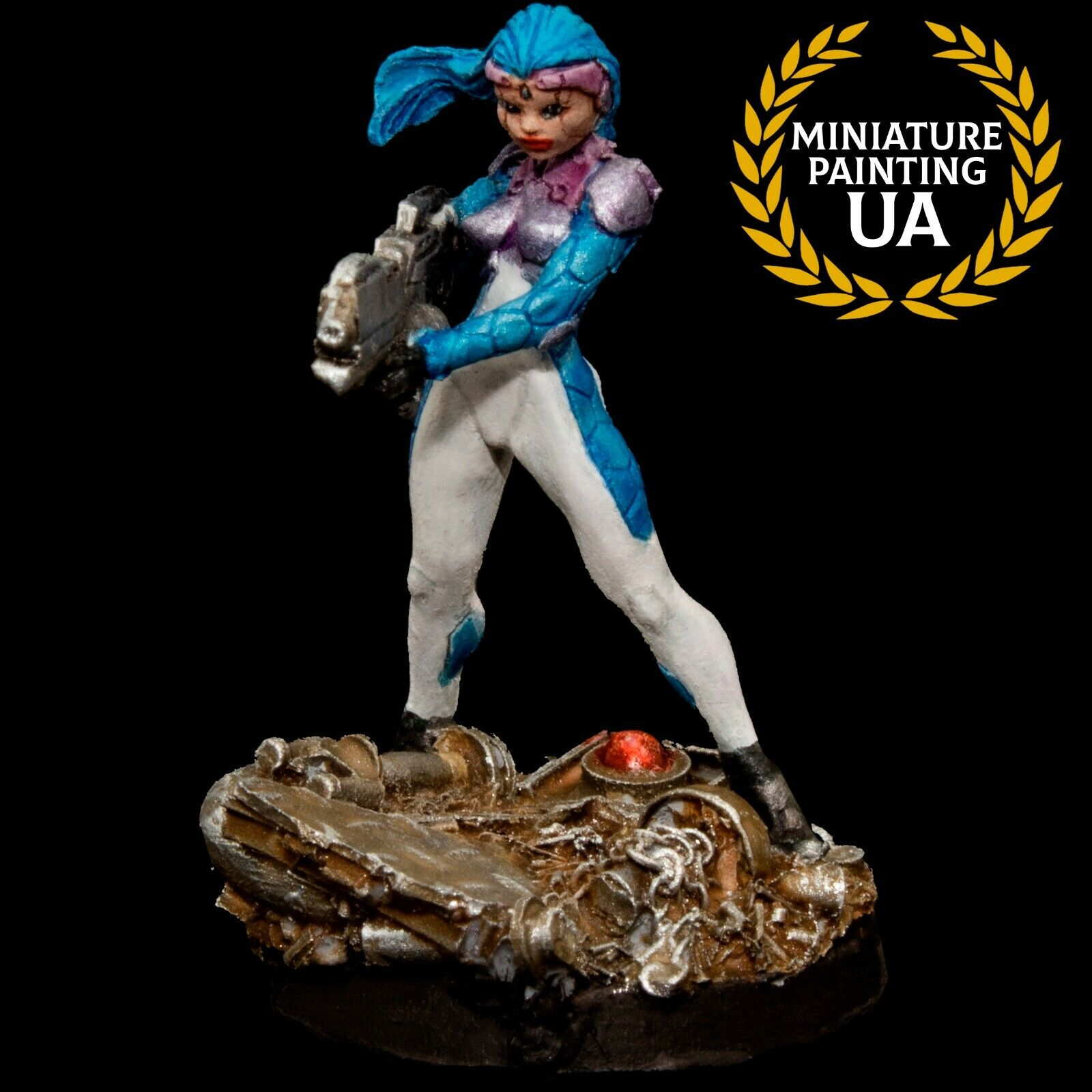 ⭐️Infinity The Game, 28mm Sci-Fi RPG Asura's Spitfire Pin Up Painted Miniature