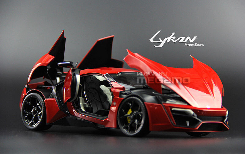 1/18 AUTOCRAFT WMOTORS LYKAN HyperSport Diecast Full Open Red