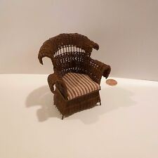 MARVIN & BARBARA TATE   EXQUISTE WICKER CHAIR SIGNED MT BT 2000