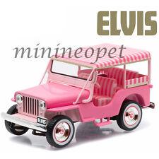 GREENLIGHT 86472 ELVIS PRESLEY 1960 60 JEEP SURREY CJ3B 1/43 DIECAST MODEL PINK