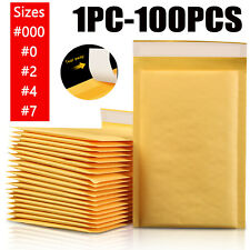 Lot Any Size Kraft Bubble Mailers Shipping Mailing Padded Bags Seal Envelopes