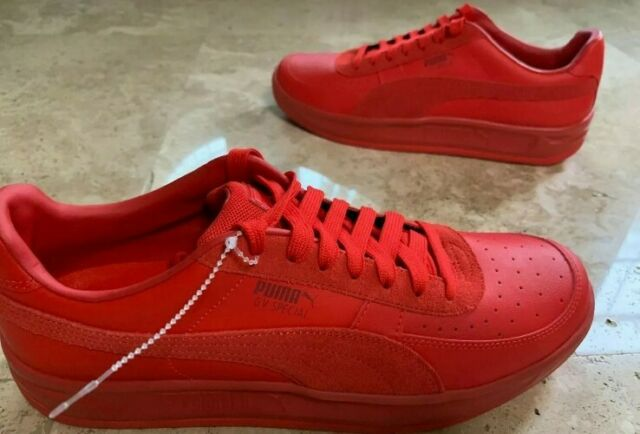 PUMA GV Special Mens Red Leather Lace
