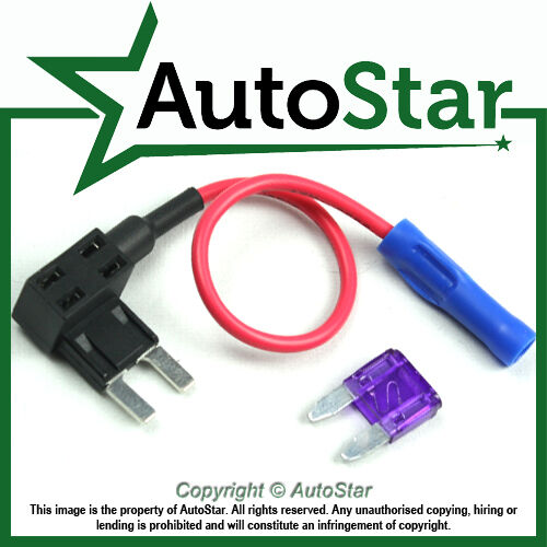 Añadir un circuito Tapa de fusible Piggy Back Mini Blade Portafusible ATM Apm 12v 24v 12 Voltios