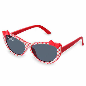 Disney Store Minnie Mouse Gingham Baby Sunglasses Girls 100% UV Protection New