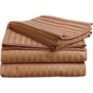 2500 Stripe Damask Bamboo Sheet Set NAVY