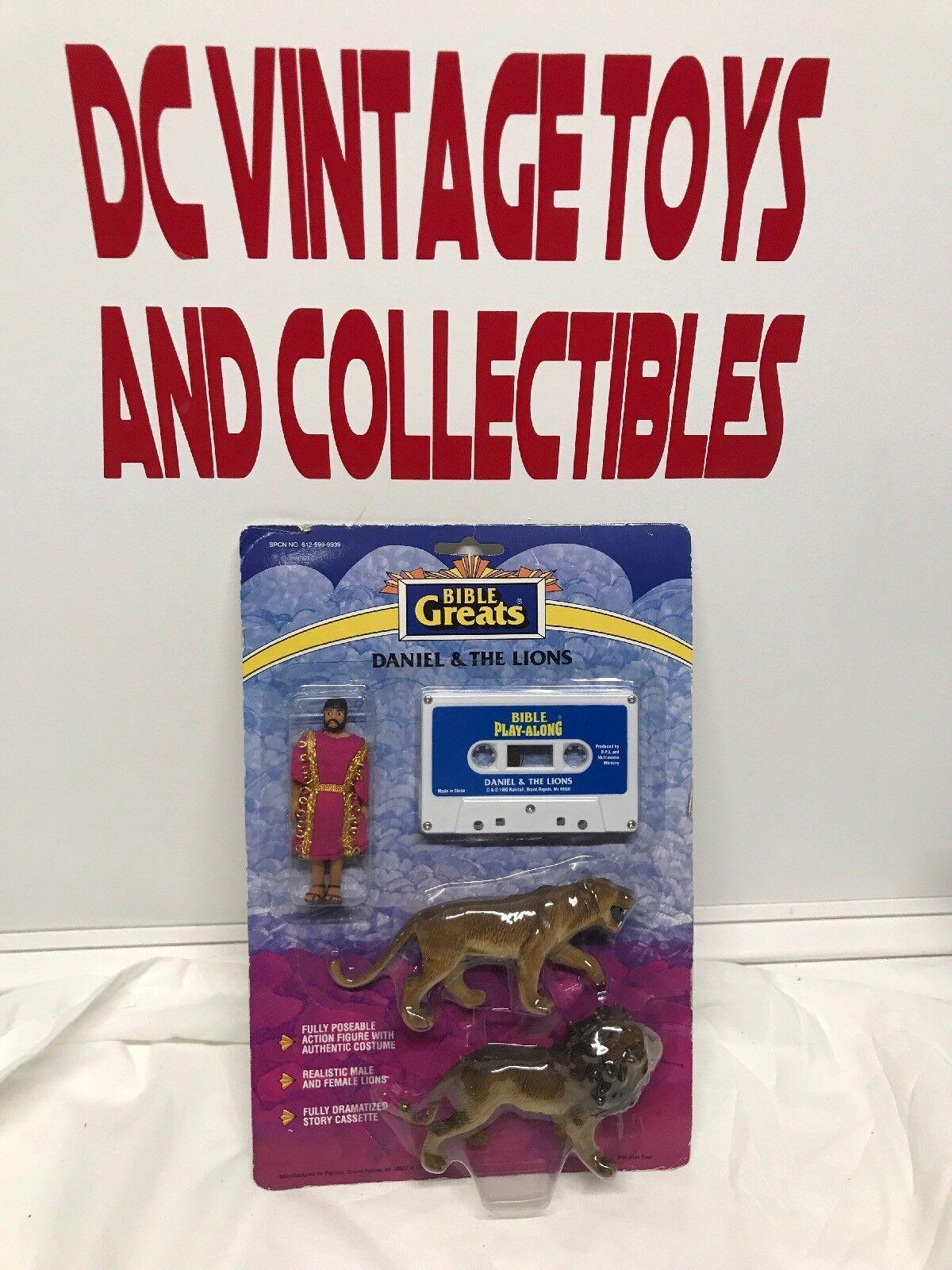 BIBLE GREATS Vintage 1991 Bible Action Figure Daniel & The Lions Sealed New