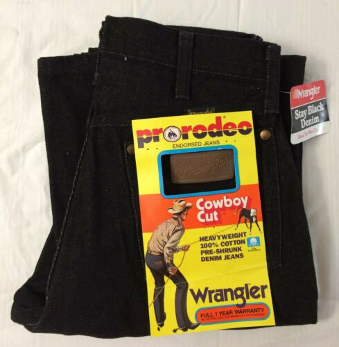 NEW Deadstock 1990s Wrangler Pro Rodeo Misses 18 Pro Cowboy Cut Weavyweight 100/% Cotton Pre-Shrunk Black Denim Mom Jeans