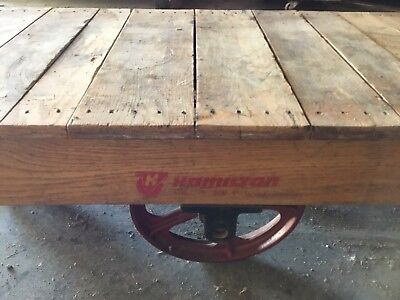 Genial Antique Hamilton Wood Industrial Railroad Factory Cart Coffee Table  Illinois | EBay