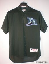 Baseball LARGE VTG Jersey Tampa Bay Rays TB L green Authentic collection 6000
