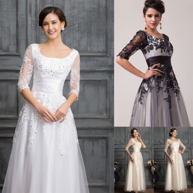 Tea Length Vintage 50s Bridesmaid Party Prom Evening Formal Long Dress Ball Gown